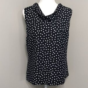 Ann Taylor Black Dot Career Top 14 ( may fit xl)